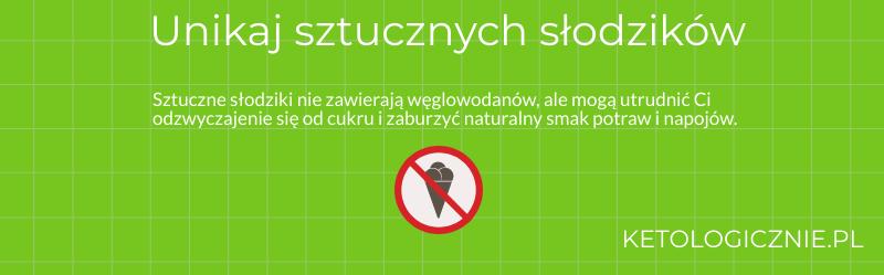 infografika unikaj sztucznych słodzików