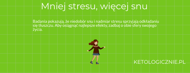 infografika mniej stresu wiecej snu