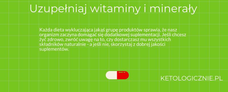 infografika uzupełnianie witamin i minerałów